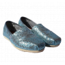 Boty TOMS Classic Alpargata Blue Glitters