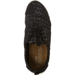 Boty TOMS Glitter Wool Womens Del Rey Sneaker Black