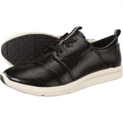 Boty TOMS Patent Linen Womens Del Rey Sneaker Black